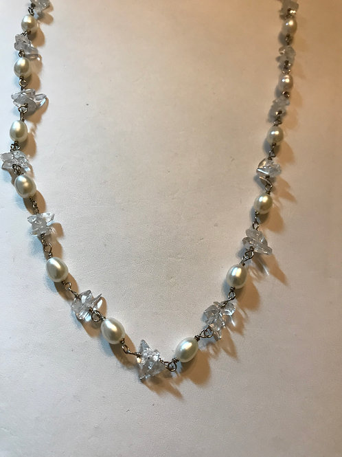Pearls with Quartz Necklace