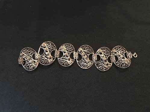 Victorian Era Silver Filigree Bracelet