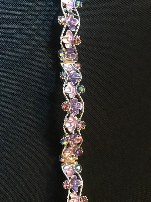 Enamel Style Crystal Bangle Bracelet