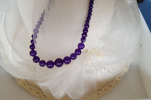 Graduated Amethyst Necklace 4-11mm