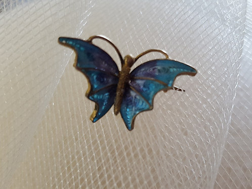 Antique/Vintage Enamel Butterfly Filigree Pin