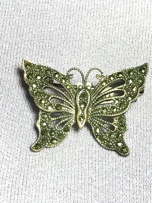 Elegant Butterfly with Marcasites set in Sterling Silver