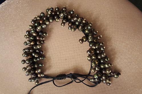 Multi- Peacock Black Pearl Adjustable Length