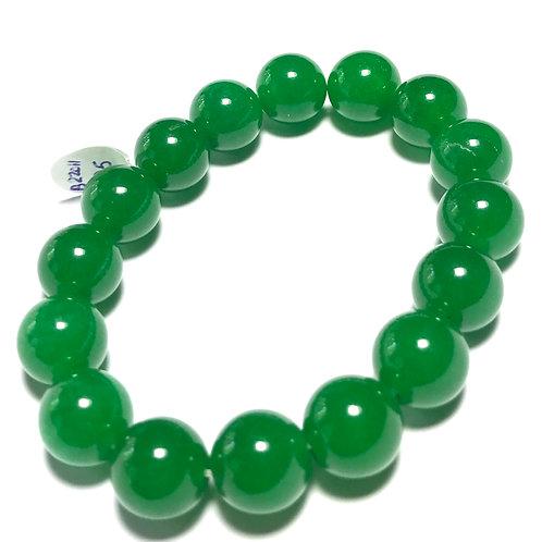 12mm Green Jade Stretch Bracelet