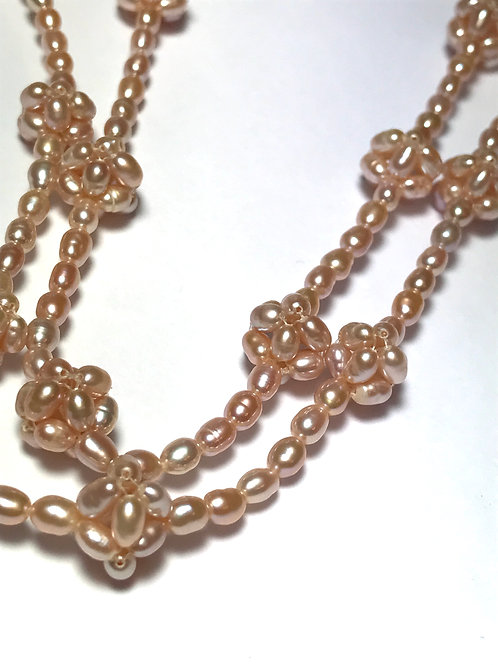 Mauve Pearl Ball Necklace