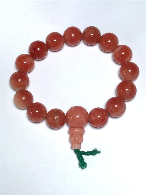 Orange Jade 12mm Bracelet
