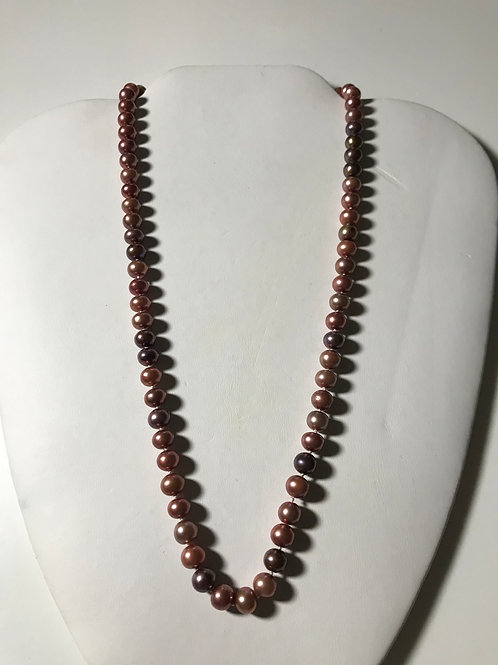 Pearl Necklace- Multi Shades of Copper