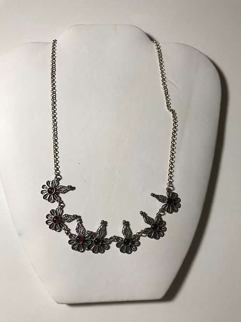 Hand-Made Filigree Ameythyst Necklace Made in Israel