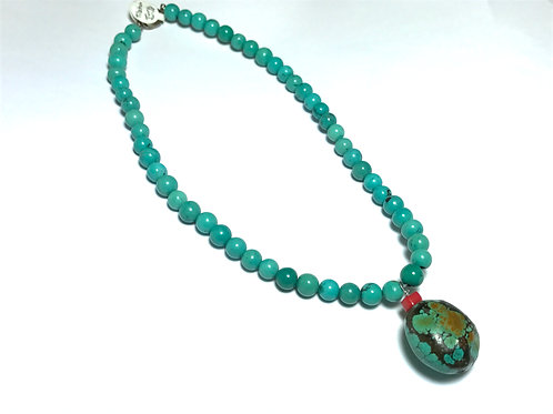 Tibetan Turquoise & Coral Necklace