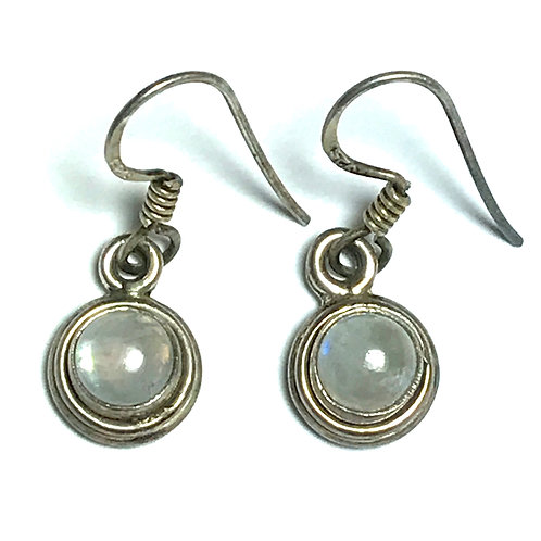 Luminous Moonstone and Sterling Silver Earrings