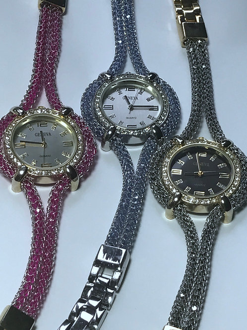 Sparkling Crystal Watch and Band
