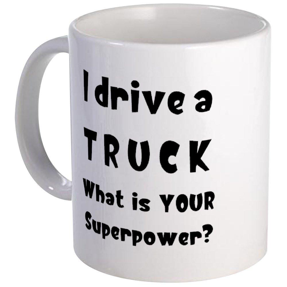 funny truck mug