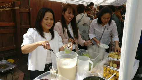 Serving desserts from the TCFAI table