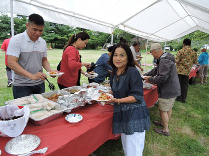 Summer picnic - so much food!