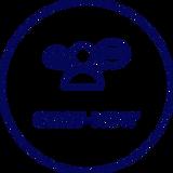 un picto représentant une personne et de bulle de conversation-chat-now est écrit dessous
