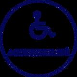 un picto représentant un fauteuil roulant -accessibilite est écrit dessous