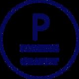 le P de parking-parking-gratuit est écrit dessous