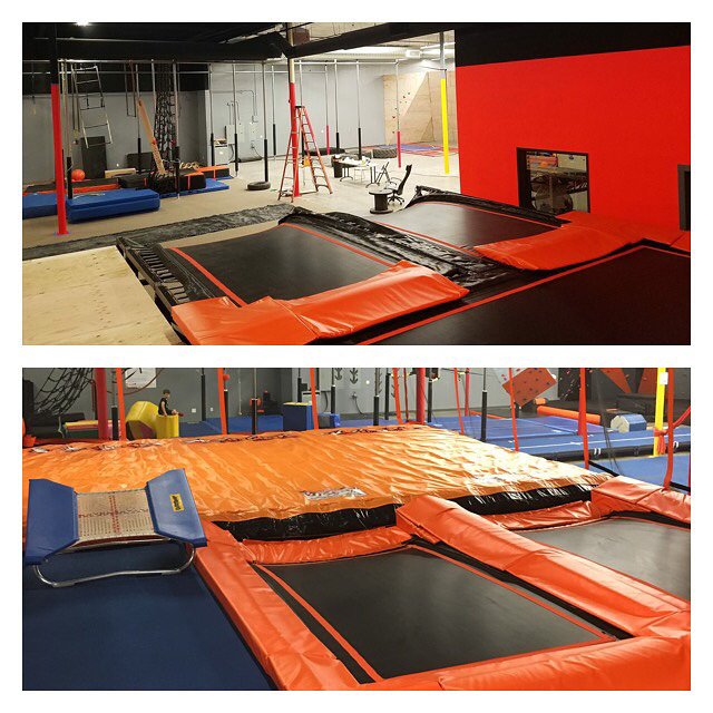 Before and after of the other areas of the gym