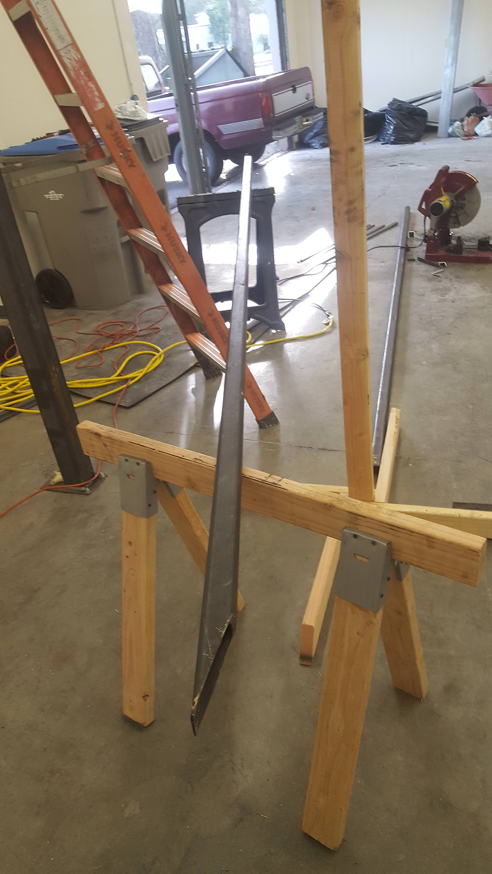 angle cut and a new saw