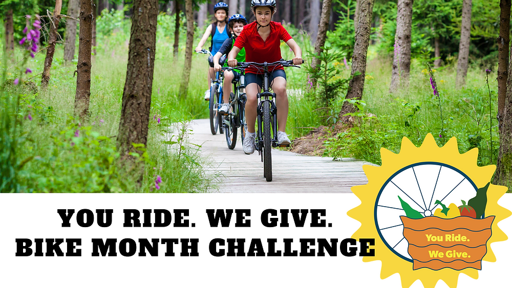 you ride. we give Bike Month Challenge