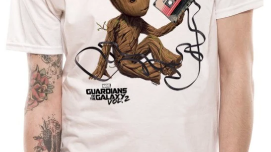 Guardians of the Galaxy Groot and Tape Tshirt