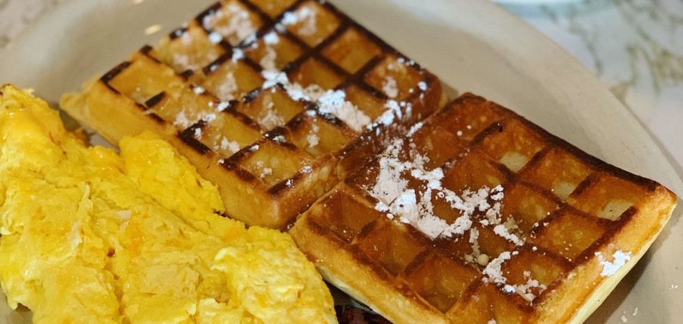 Waffles, eggs, & meat