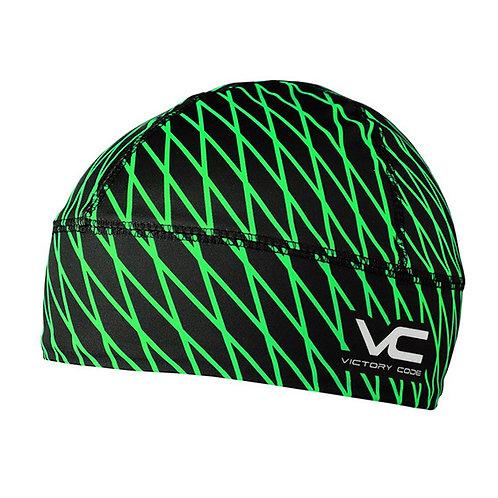 Гоночная шапка Quantum, черно-зеленый