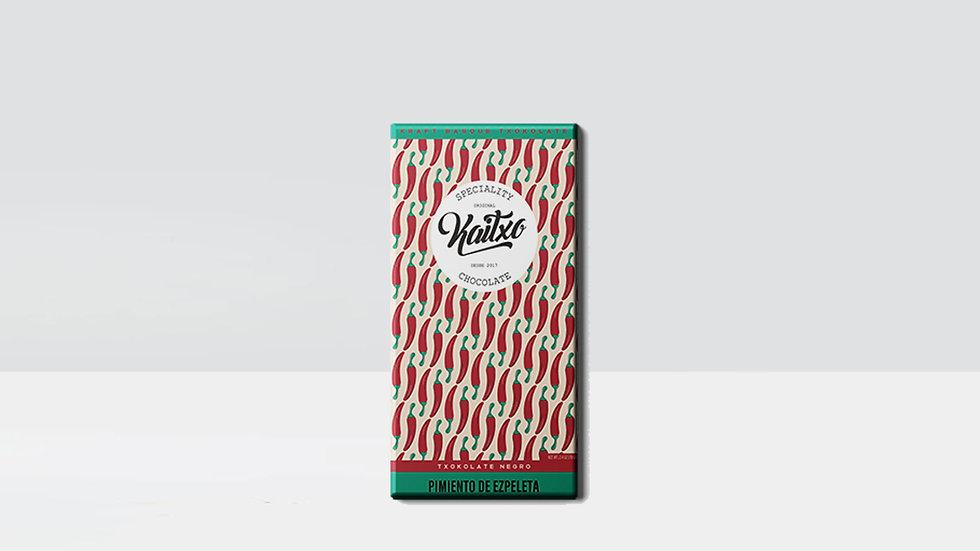 Chocolat noir Kaitxo au piment d'Espelette