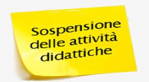 CONTINUA LA SOSPENSIONE DELLE ATTIVITA' DIDATTICHE