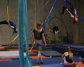 Aerials in adult circus class