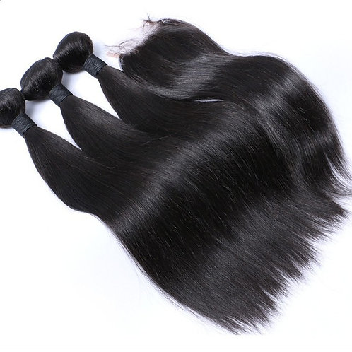 Indian Mink Straight With Closure