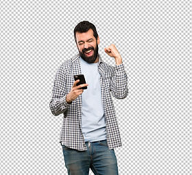 handsome-man-with-beard-with-phone-victo