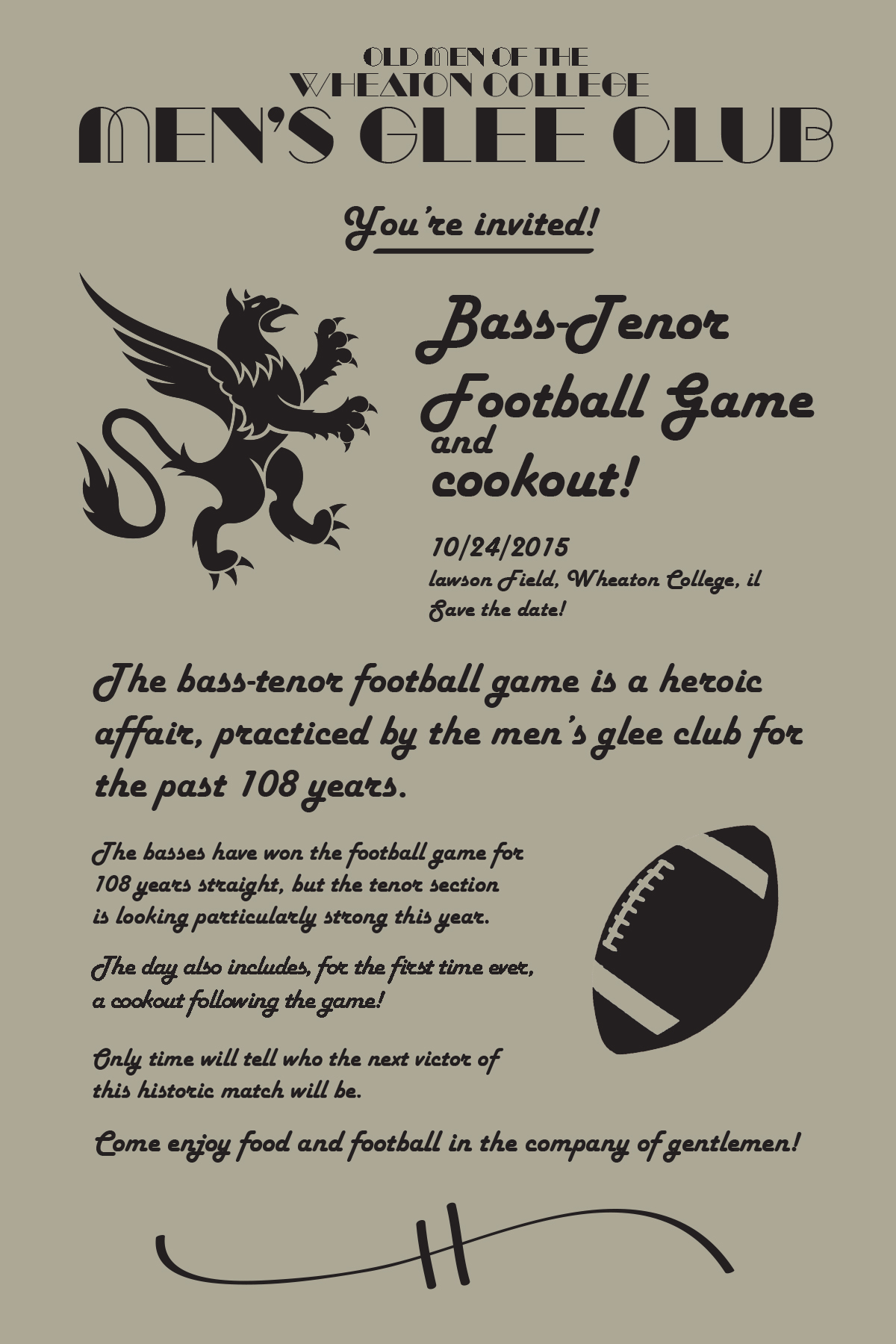 Football Game Invite