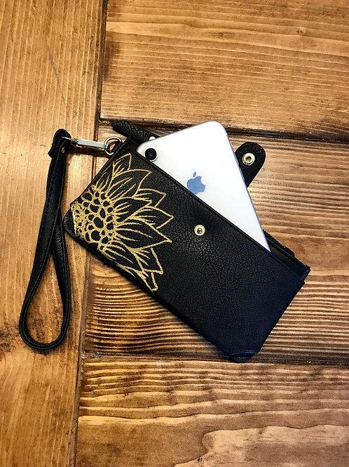 Cell Phone Wristlet-Black