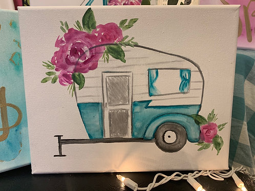 Turquoise spring camper