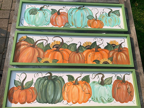 Framed Pumpkin Signs
