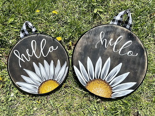 Daisy Door Hanger, Small or Large