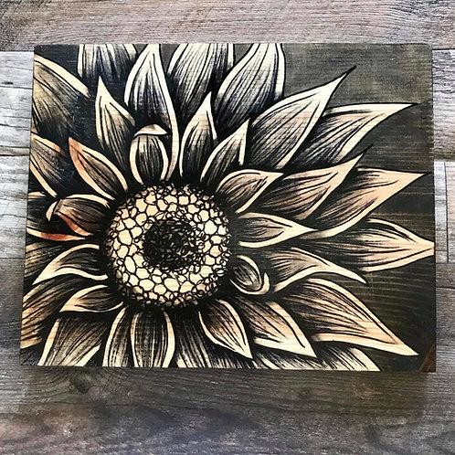 3/4 Sunflower Art