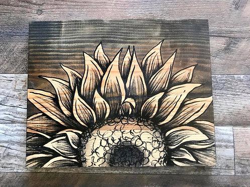 Half Sunflower Art