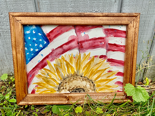 Sunflower Flag Watercolor