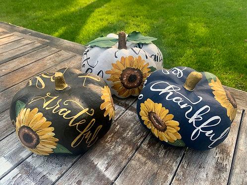 3D Sunflower Pumpkins