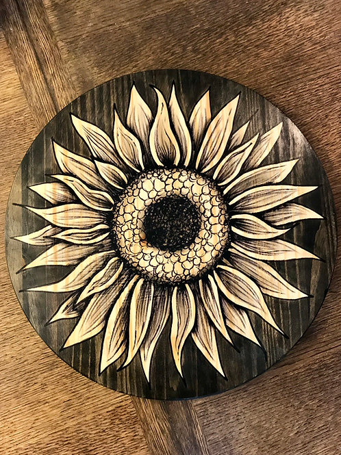 Full Round Sunflower- Lazy Susan, Tray or Wall-Art