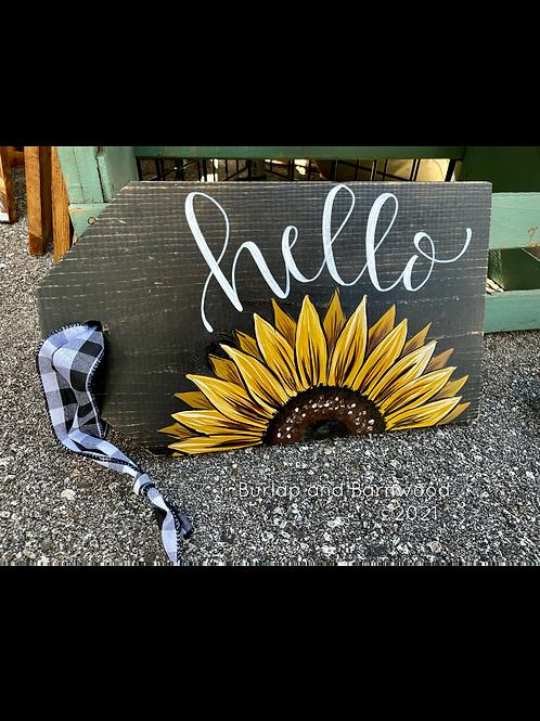 Sunflower Ticket Sign
