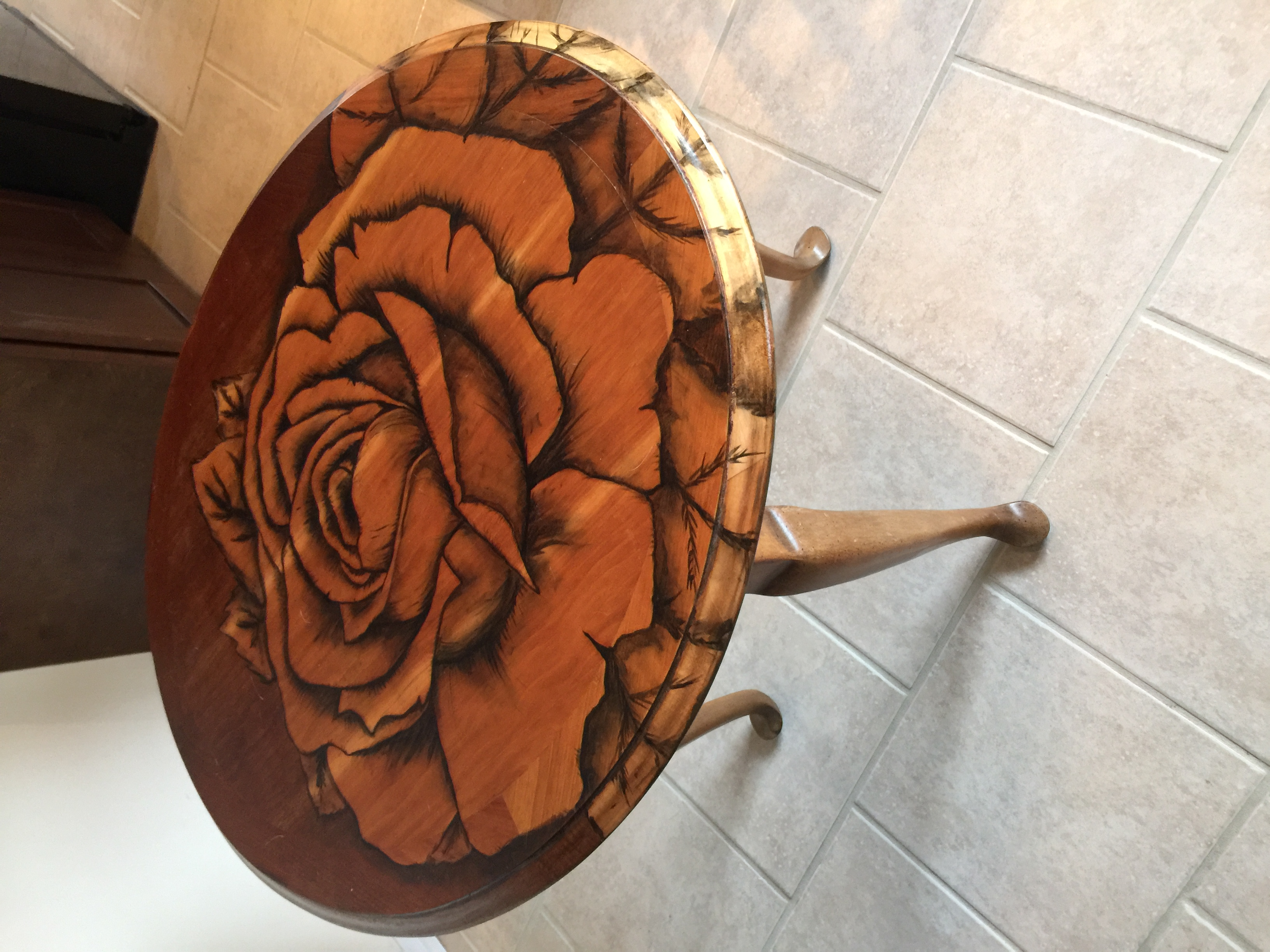 Rose End Table