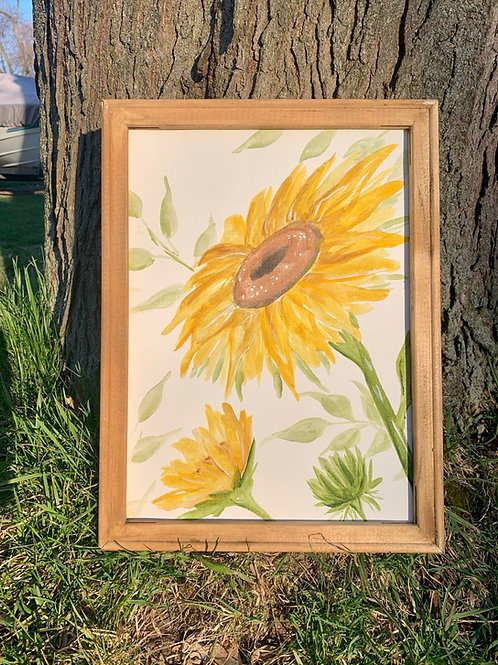 Sunflower Water Color 2