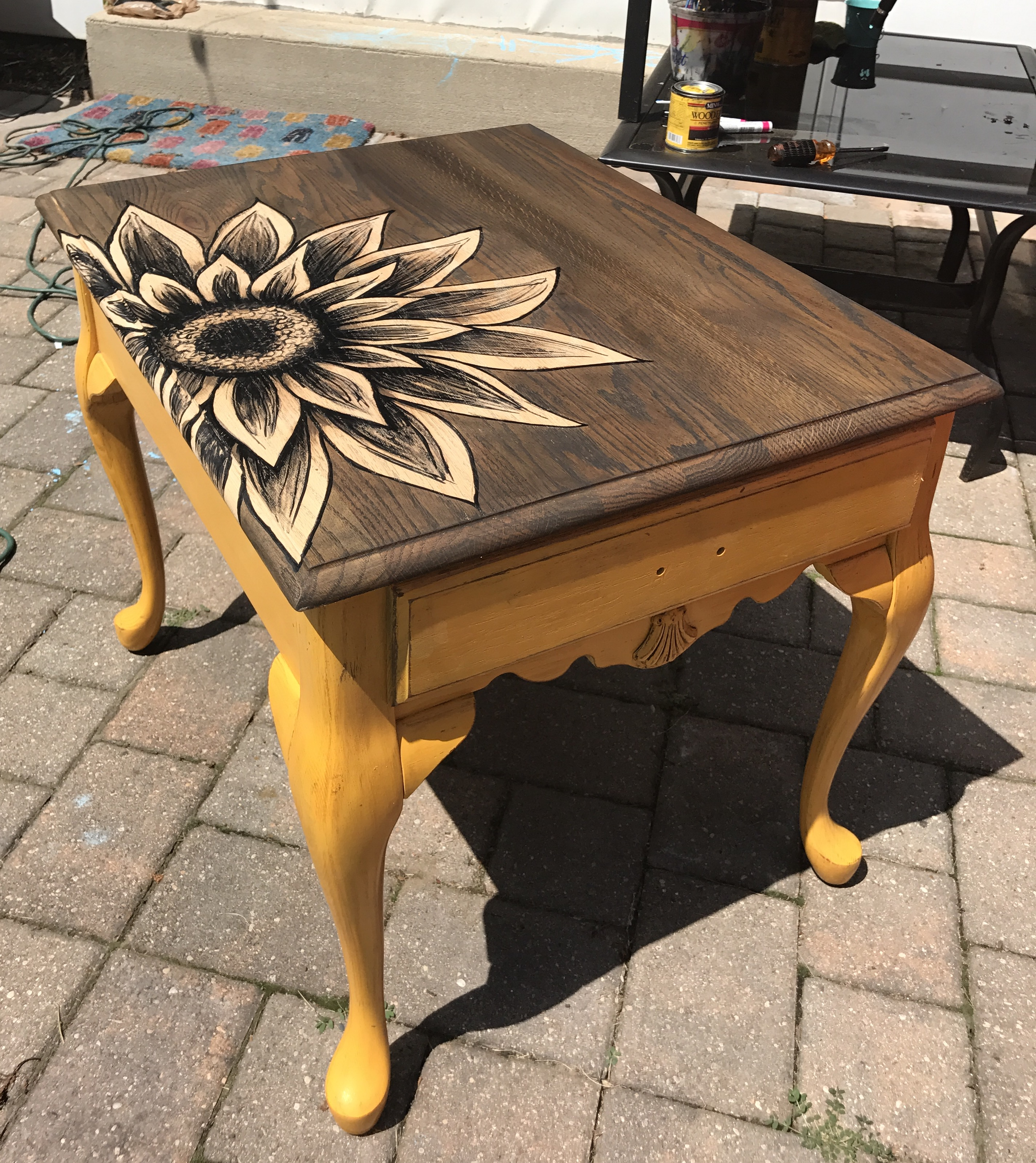 Sunflower End Table