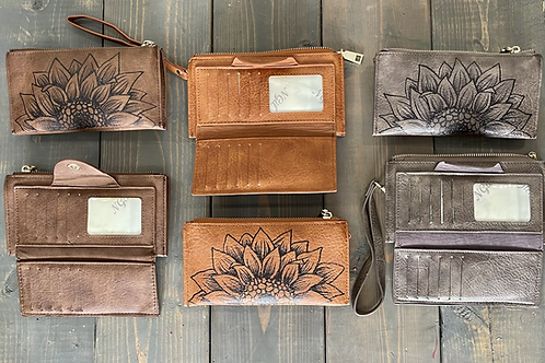 Sunflower Wallet Clutch