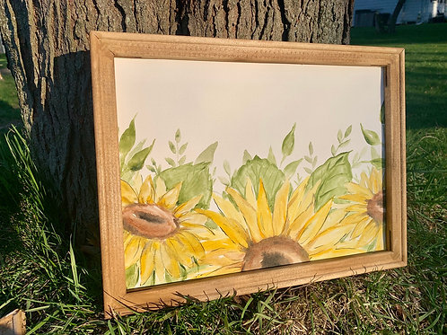 Sunflower Watercolor-Add your own text!