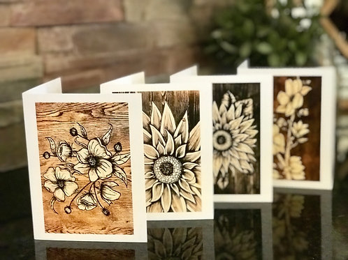 Greeting Card 4 Pack with Envelopes- Blank Inside