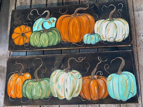 Long Pumpkin Painting